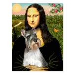 Schnauzer 11N - Mona Lisa Post Card