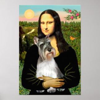 Schnauzer 11N - Mona Lisa Posters