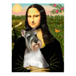 Schnauzer 11N - Mona Lisa Tarjeta Postal
