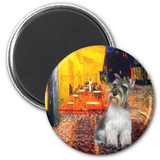 Schnauzer 11N - Terrace Cafe 2 Inch Round Magnet