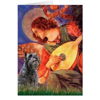 Schnauzer 12 - Mandolin Angel Greeting Card