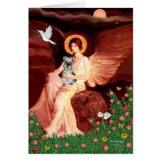 Schnauzer 1N - Seated Angel Card