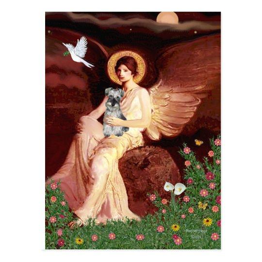 Schnauzer 1N - Seated Angel Postcard