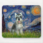 Schnauzer 8cr - Starry Night Mouse Pads