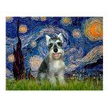 Schnauzer 8cr - Starry Night Postcards