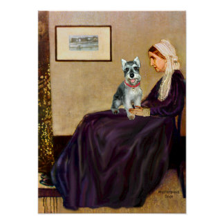 Schnauzer 8cr - Whistlers Mother Poster