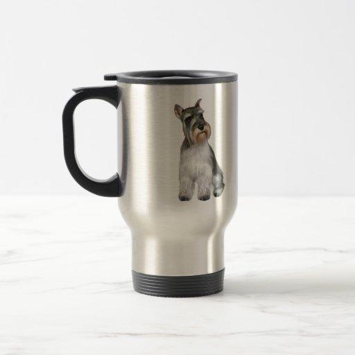 Schnauzer (A11) 15 Oz Stainless Steel Travel Mug