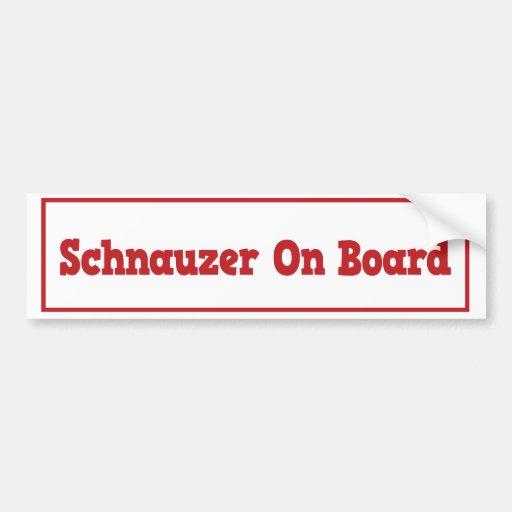 Schnauzer a bordo pegatina para el parachoques pegatina para auto