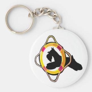Schnauzer Agility Dog Keychain