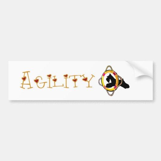 Schnauzer Agility Dog Sticker