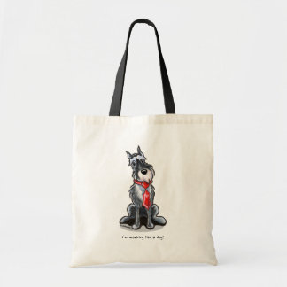 Schnauzer All Business Personalized Tote Bag