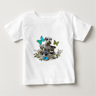 Schnauzer and Butterflies gifts and apparel Baby T-Shirt
