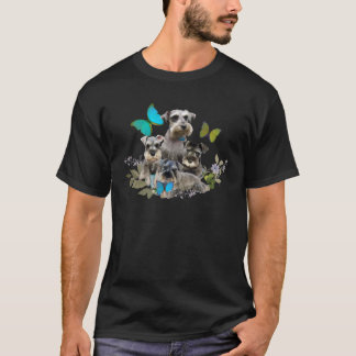 Schnauzer and Butterflies gifts and apparel T-Shirt