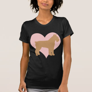 Schnauzer and Pink Heart Tshirts