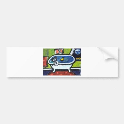 Schnauzer bath bumper stickers