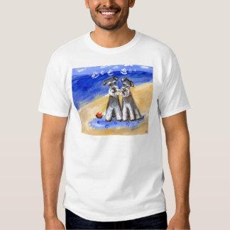 Schnauzer beach love shirt
