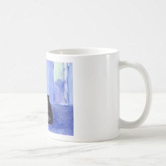 Schnauzer Black cat greetings Coffee Mug