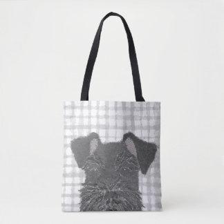 Schnauzer, Black, Modern Tote Bag