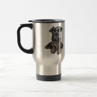 Schnauzer (black) travel mug