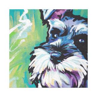 Schnauzer Bright Colorful Pop Dog Art Canvas Print
