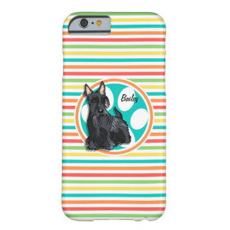 Schnauzer; Bright Rainbow Stripes Barely There iPhone 6 Case