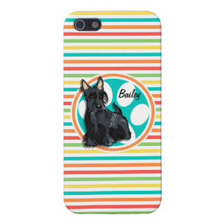 Schnauzer; Bright Rainbow Stripes Case For iPhone 5