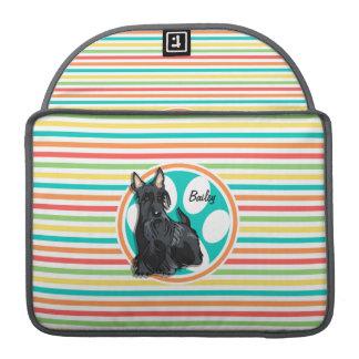 Schnauzer; Bright Rainbow Stripes Sleeves For MacBooks