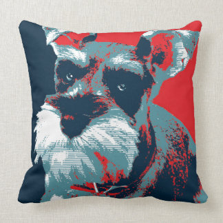 Schnauzer by Hope Dogs Throw Pillow