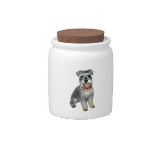 Schnauzer (C8) - red collar Candy Dishes