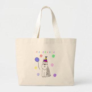 Schnauzer Celebrate Canvas Bags