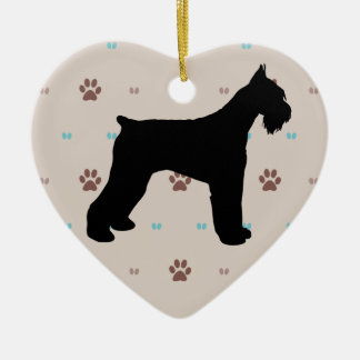 Schnauzer Ceramic Ornament