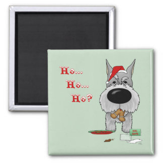 Schnauzer Christmas Magnet