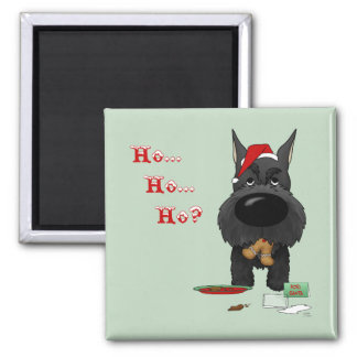 Schnauzer Christmas Fridge Magnets