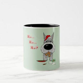 Schnauzer Christmas Two-Tone Coffee Mug