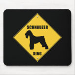 Schnauzer Crossing (XING) Sign Mouse Pad
