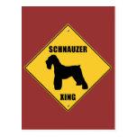 Schnauzer Crossing (XING) Sign Postcard