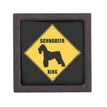 Schnauzer Crossing (XING) Sign Premium Keepsake Boxes