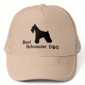 Schnauzer Dad Cap zazzle_hat