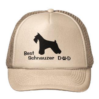 Schnauzer Dad Cap Trucker Hat