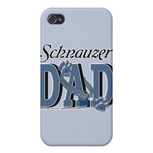 Schnauzer DAD Cases For iPhone 4