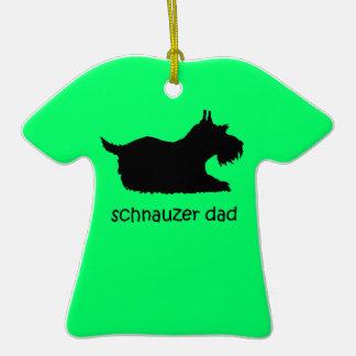 schnauzer dad christmas tree ornament