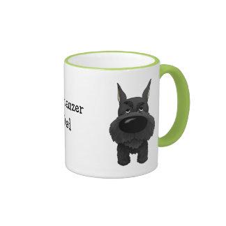 Schnauzer Dad Ringer Coffee Mug