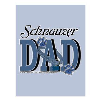 Schnauzer DAD Postcard