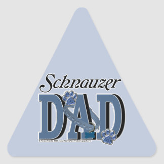 Schnauzer DAD Triangle Sticker