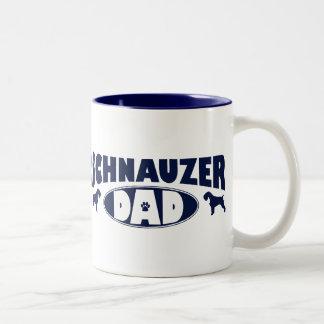 Schnauzer Dad Two-Tone Coffee Mug