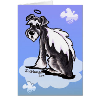 Schnauzer de la pérdida del mascota tarjeta de felicitación