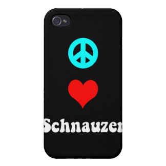 schnauzer del amor de la paz iPhone 4 protector