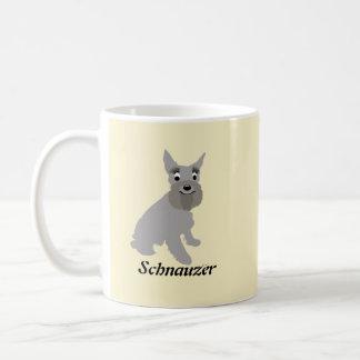 Schnauzer del dibujo animado taza de café