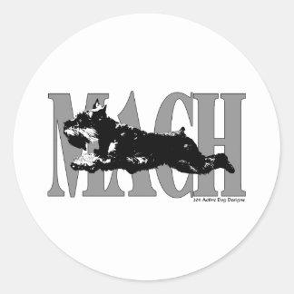 Schnauzer del MACH Pegatina Redonda