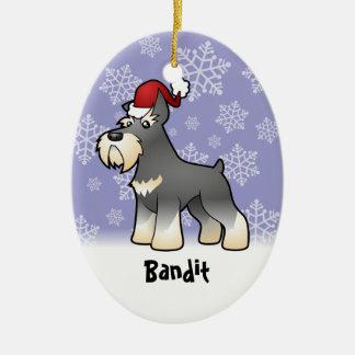 Schnauzer del navidad añada su nombre de mascotas